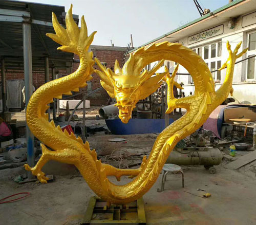 铸铜龙雕塑