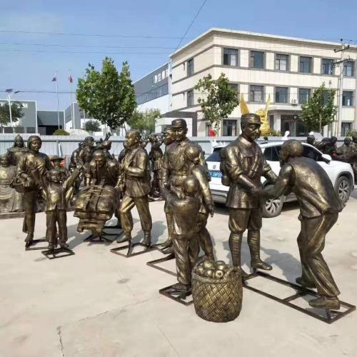 铸铜雕塑是具有传统意义的工艺品