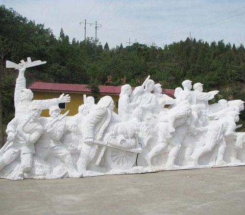 泡沫红军人物雕塑