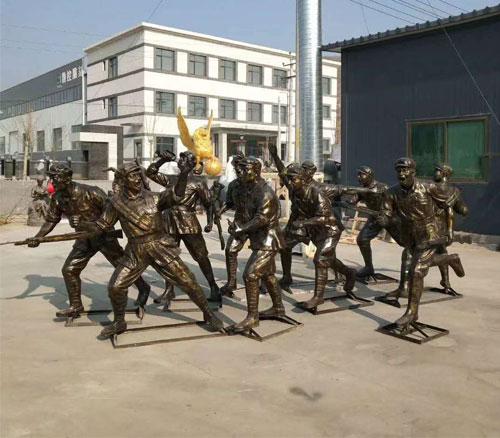 铸铜红军人物雕塑