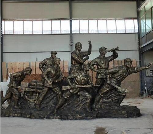 玻璃钢红军人物雕塑