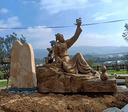 大型铸铜历史人物雕塑