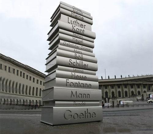 不锈钢书本雕塑