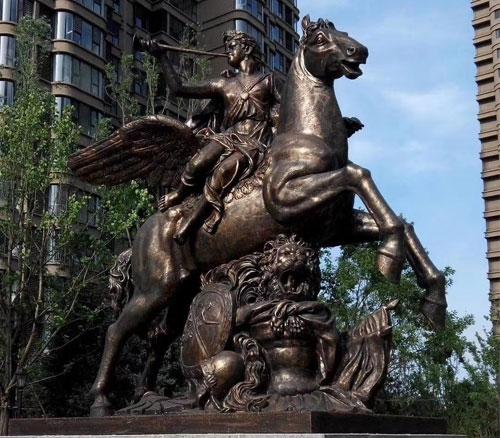 西方铸铜雕塑