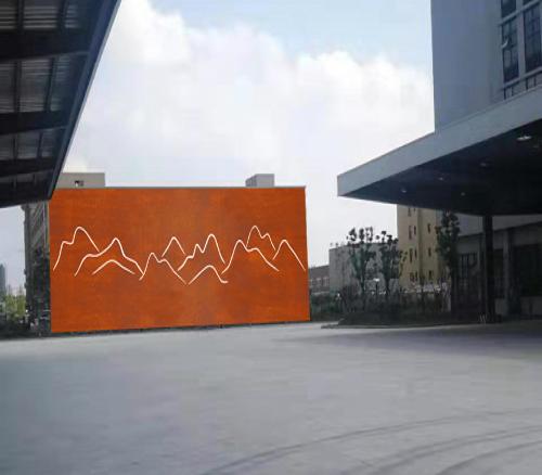 耐候钢背景文化墙雕塑