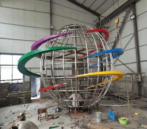 大型不锈钢广场雕塑